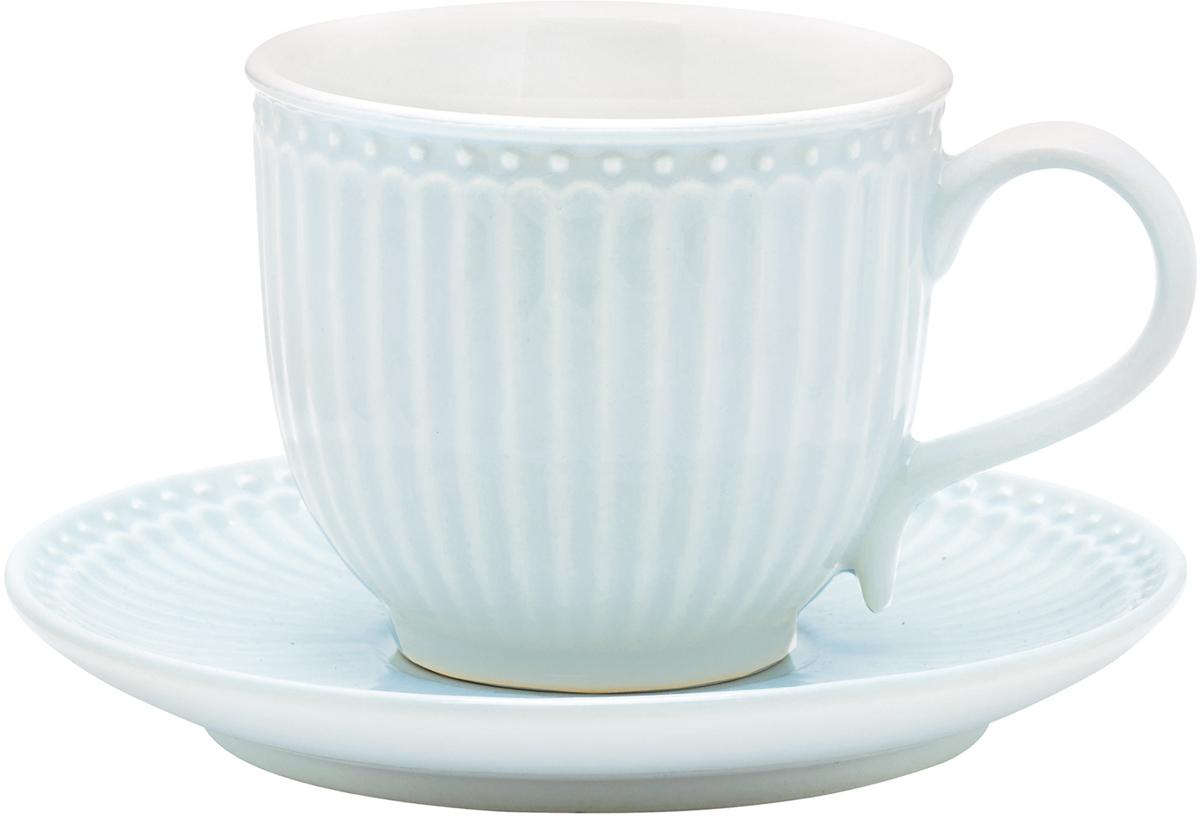 Чайная пара Alice, цвет: голубой, 2 предметаSTWCUPSAALI2906GreenGate- это широко известная во всем мире компания, которая с 2001 года производит потрясающую по красотеколлекционную посуду.