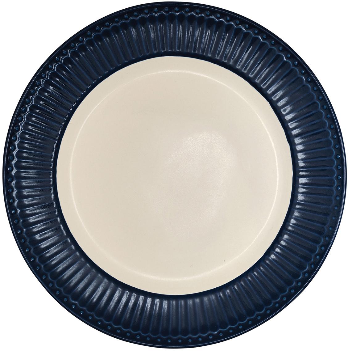 Тарелка Alice, цвет: темно-синий, диаметр 27 смSTWDINAALI2206Блюдо Alice dark blue, выполненное из высококачественного фарфора, может исполнять роль сервировочной тарелки, а также использоваться самостоятельно – как блюдо для овощей, фруктов, различных нарезок.
