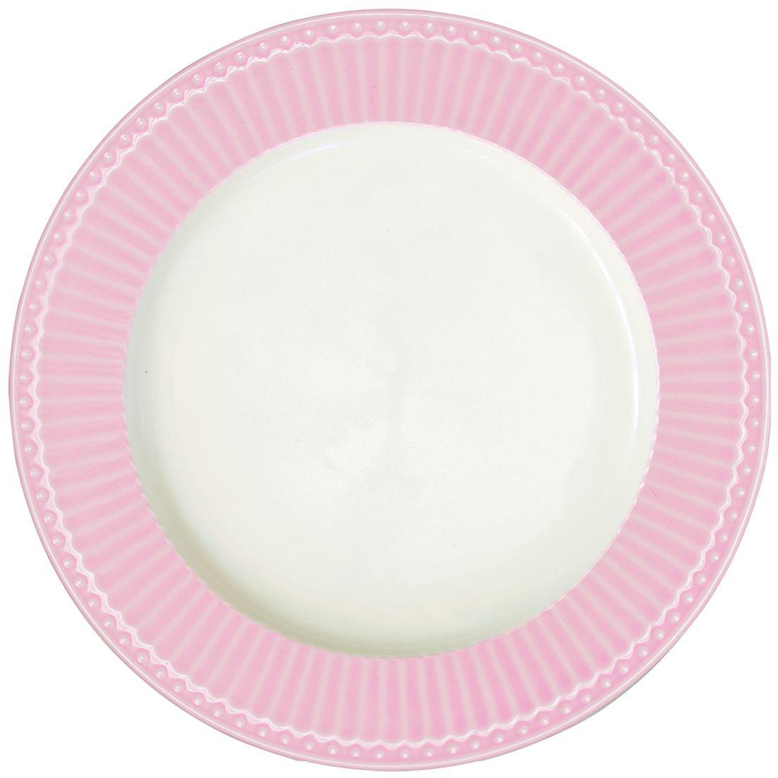 Тарелка Alice, цвет: розовый, диаметр 27 смSTWdinali1906Блюдо Alice dark blue, выполненное из высококачественного фарфора, может исполнять роль сервировочной тарелки, а также использоваться самостоятельно – как блюдо для овощей, фруктов, различных нарезок.