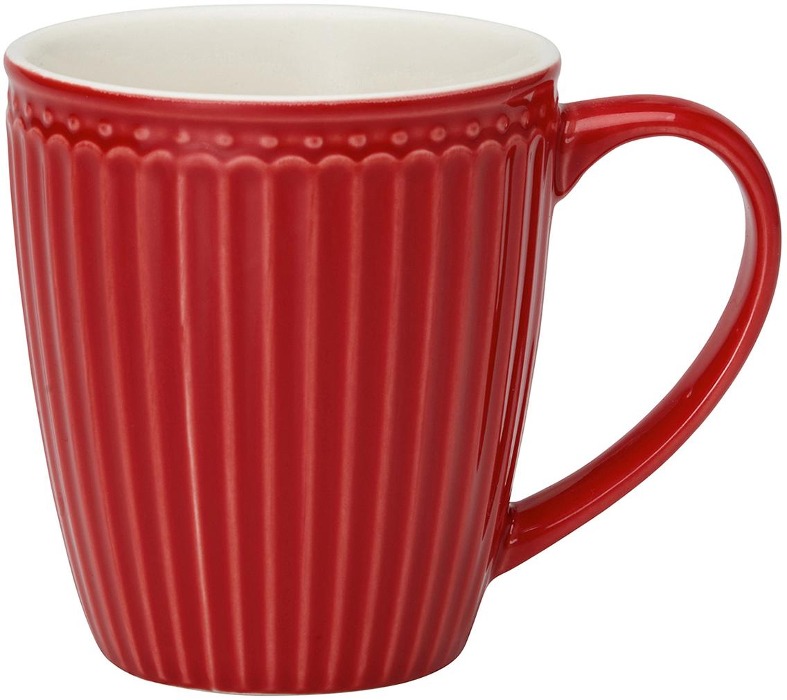 Кружка Alice, цвет: красный, 300 млSTWMUGAALI1006GreenGate- это широко известная во всем мире компания, которая с 2001 года производит потрясающую по красотеколлекционнуюфарфоровую посуду.