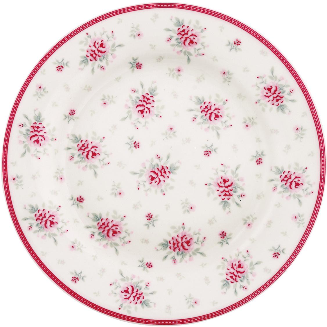 Тарелка Flora white, диаметр 20,5 смSTWPLAFLO0106GreenGate- это широко известная во всем мире компания, которая с 2001 года производит потрясающую по красотеколлекционнуюфарфоровую посуду.