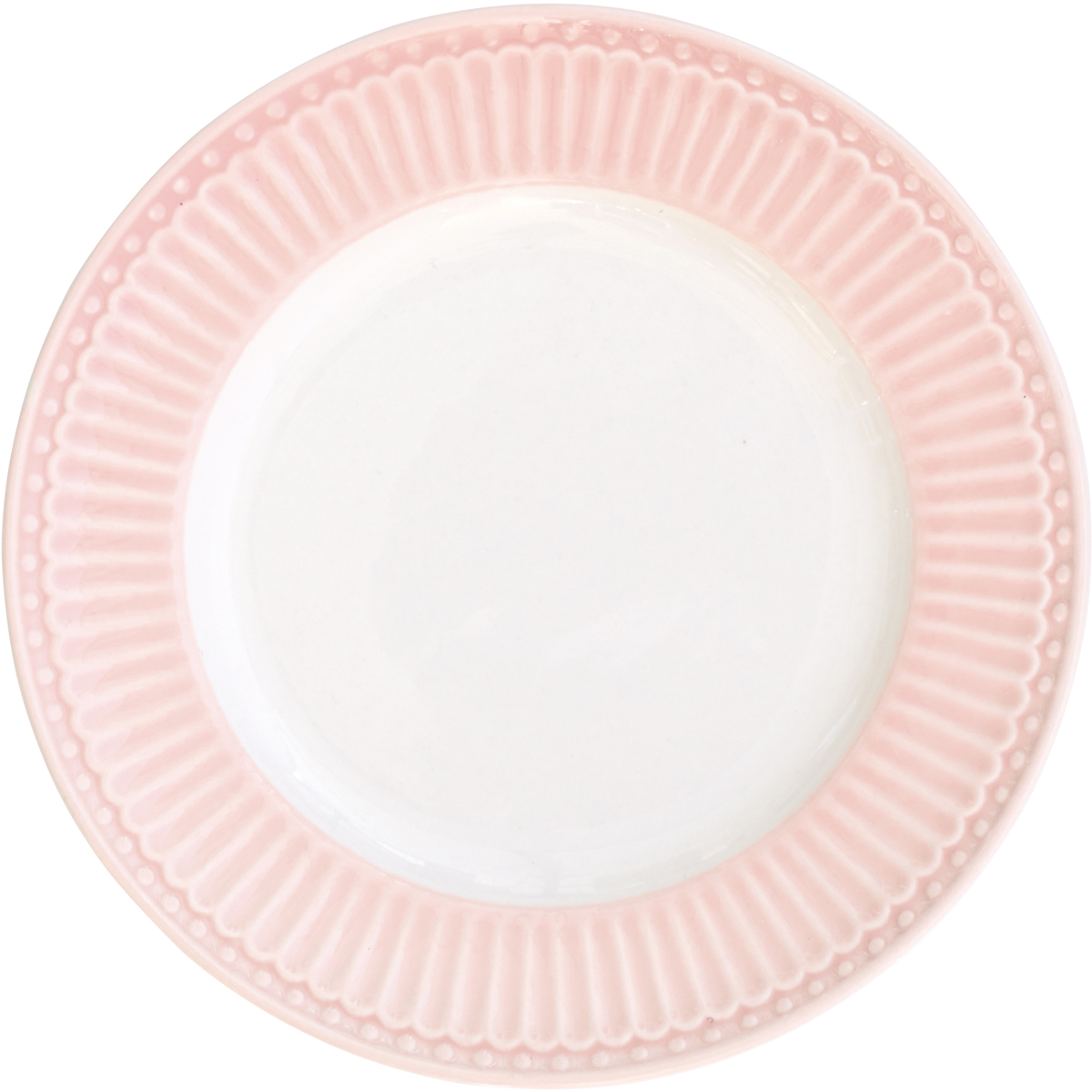 Тарелка десертная Alice, цвет: розовый, диаметр 17,5 смSTWPLASAALI1906Десертная тарелка датского производства Alice pale pink, выполненная из высококачественного фарфора, несомненно, станет украшением как праздничного стола, так и повседневной сервировки. Базовая коллекция Alice создана для идеального сочетания посуды ранних и будущих коллекций Greengate. Впервые появилась в каталогах в 2016 году и с тех пор завоевала миллионы сердец своей универсальностью, зефирной нежностью и разнообразием посудной линейки. Коллекция Alice в пастельных тонах (pink, blue, green) превосходно сочетается как между собой, так и с классическими цветочными принтами, разбавляет их и облегчает композицию. Солнечный желтый цвет Alice pale yellow в сервировке вносит свежесть и яркость погожего летнего денька. Выполнена из высококачественного фарфора, устойчивого к сколам, допускается использование в посудомоечной машине и микроволновой печи. Коллекция Alice – это беспроигрышный вариант как для знакомства с коллекционной посудой Greengate, так и для принципа «mix and match» (смешивай и сочетай).