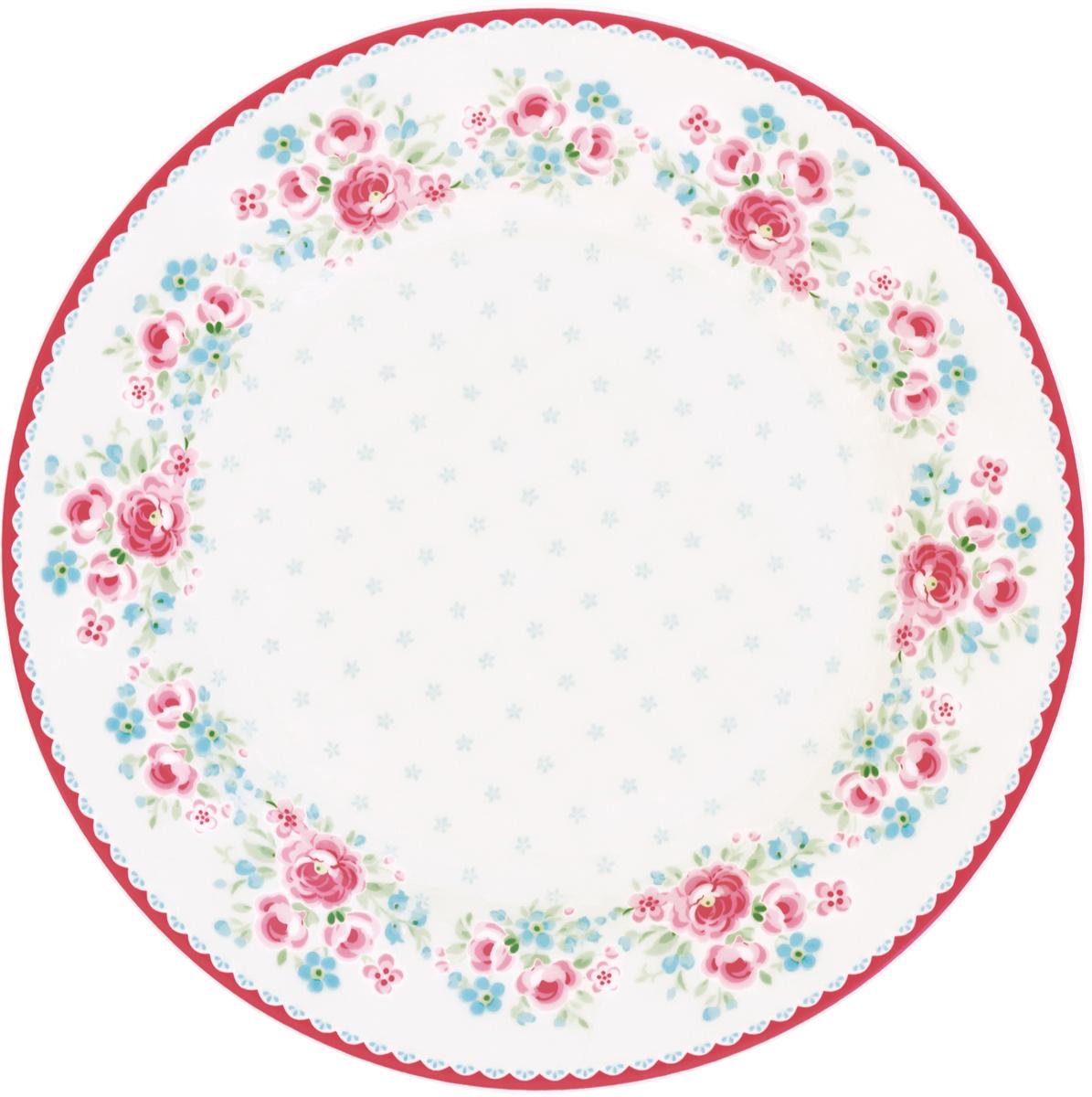 Тарелка Tess white, диаметр 20,5 смSTWPLATES0106GreenGate- это широко известная во всем мире компания, которая с 2001 года производит потрясающую по красотеколлекционнуюфарфоровую посуду.