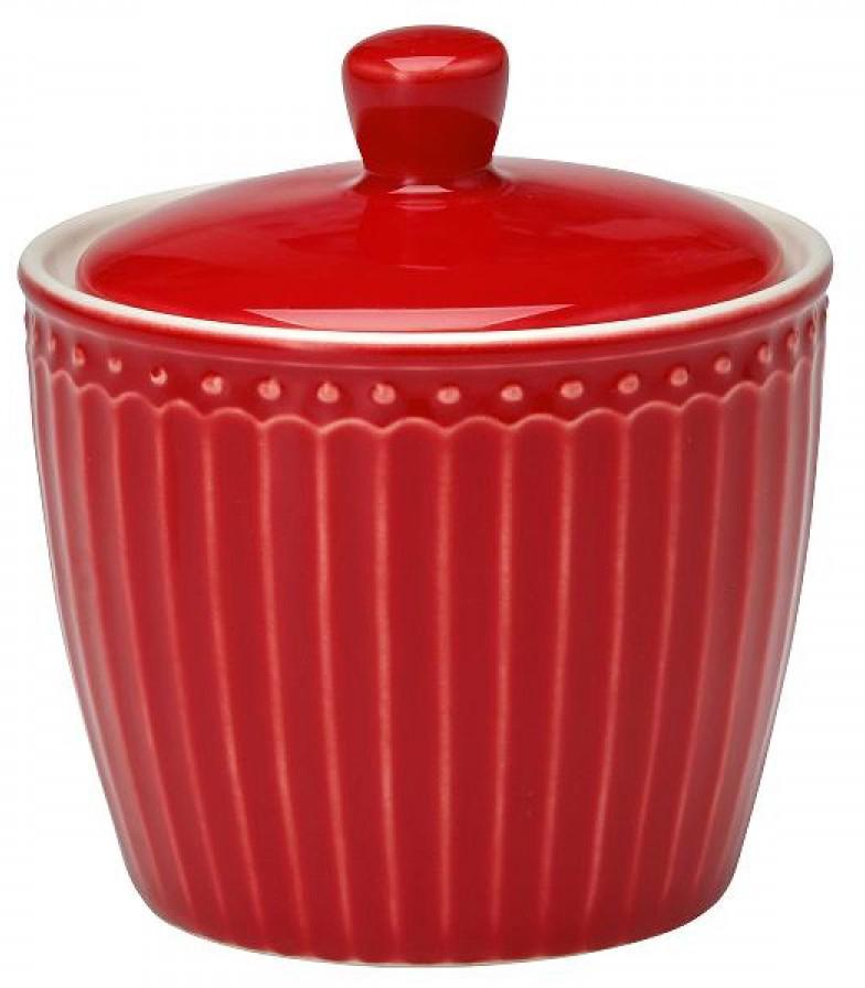 Сахарница Alice, цвет: красныйSTWSUGAALI1006GreenGate- это широко известная во всем мире компания, которая с 2001 года производит потрясающую по красотеколлекционнуюфарфоровую посуду.