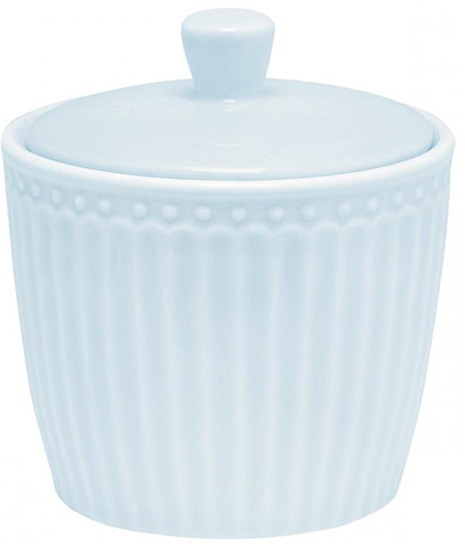 Сахарница Alice, цвет: голубойSTWSUGAALI2906GreenGate- это широко известная во всем мире компания, которая с 2001 года производит потрясающую по красотеколлекционнуюфарфоровую посуду.