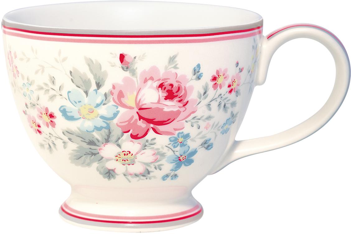 Чашка чайная Marie grey, цвет: мультиколор, 400 млSTWTECMAR8106GreenGate- это широко известная во всем мире компания, которая с 2001 года производит потрясающую по красотеколлекционную посуду.
