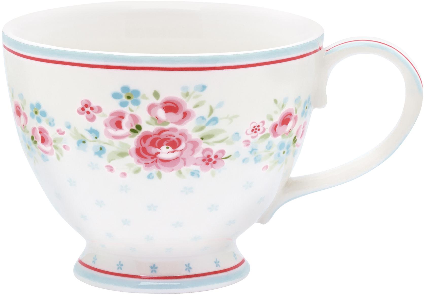 Чашка чайная Tess white, цвет: мультиколор, 400 млSTWTECTES0106GreenGate- это широко известная во всем мире компания, которая с 2001 года производит потрясающую по красотеколлекционную посуду.