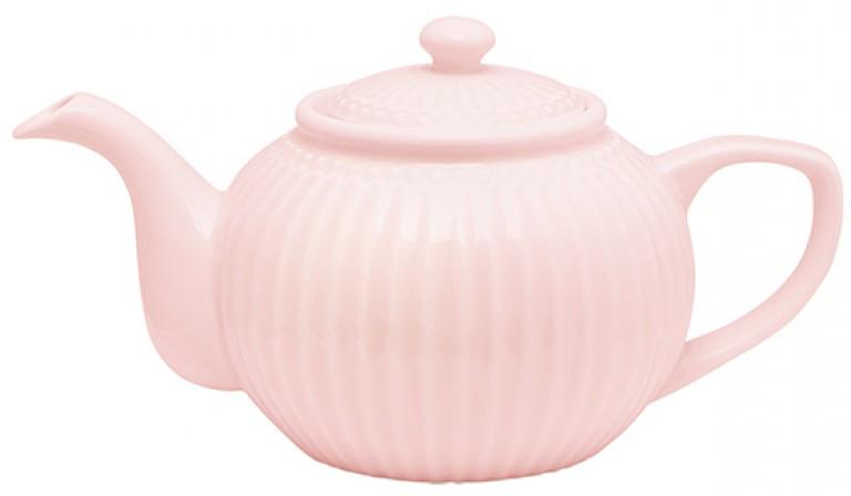 Чайник заварочный Alice, цвет: розовый, 1 лSTWTEPAALI1904Одно из центральных мест каждой кухни занимает его величество, Чайник. Классическая форма, мягкие изгибы и высококачественный материал чайника Alice dark blue превратят каждое чаепитие в красивую церемонию. А чайные пары и чашки из коллекции Alice гармонично дополнят сервировку. Базовая коллекция Alice создана для идеального сочетания посуды ранних и будущих коллекций Greengate. Впервые появилась в каталогах в 2016 году и с тех пор завоевала миллионы сердец своей универсальностью, насыщенными цветами и разнообразием посудной линейки. Alice dark blue – настоящая находка для тех, кто хочет освежить сервировку, придать ей благородные нотки классическим и глубоким синим цветом.