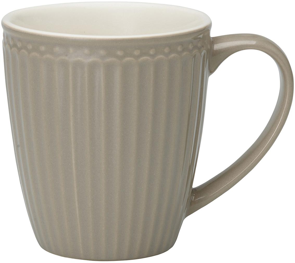 Кружка Alice, цвет: серый, 300 млSTWMUGAALI8306GreenGate- это широко известная во всем мире компания, которая с 2001 года производит потрясающую по красотеколлекционнуюфарфоровую посуду.