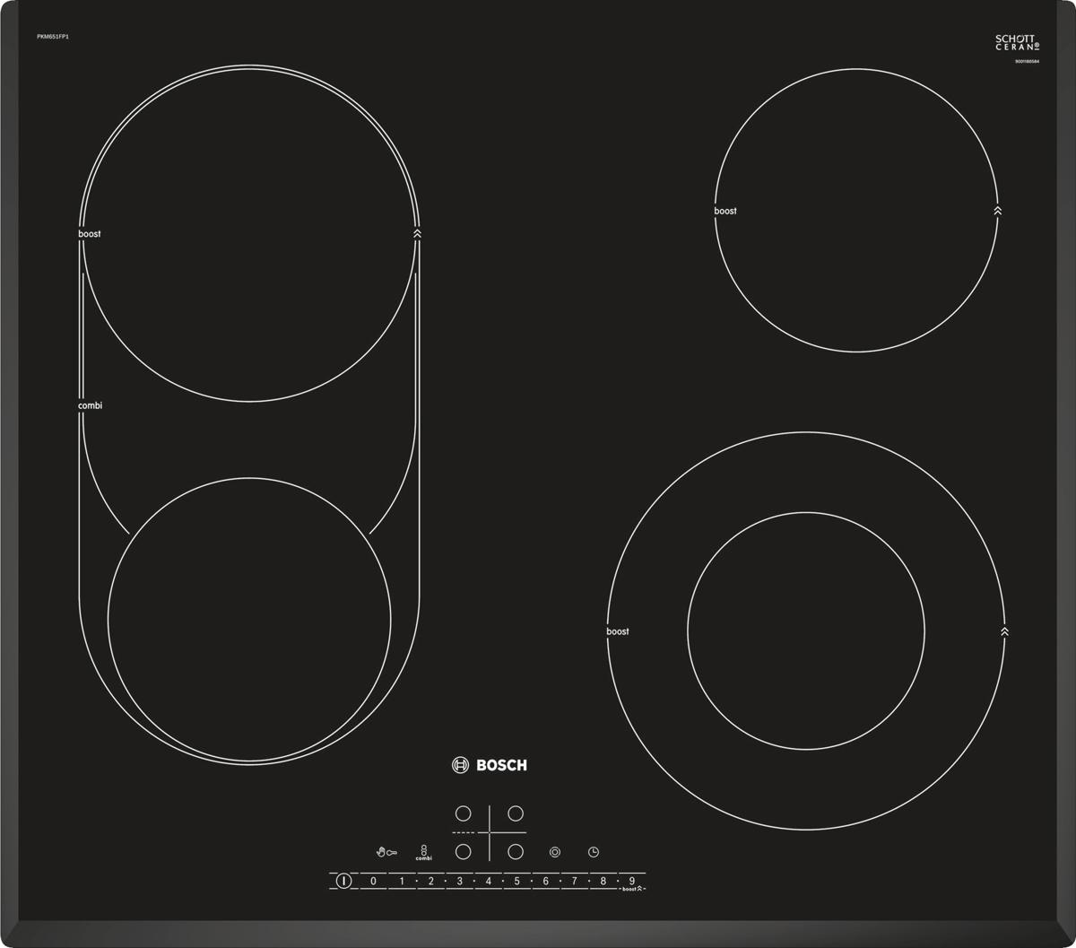 Bosch PKM651FP1 варочная панель встраиваемая машина посудомоечная встр hotpoint ariston ltf 11s112 l eu 60см 15комп 11прог