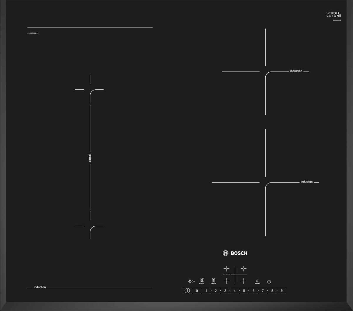 Bosch PVS651FB1E варочная панель встраиваемая