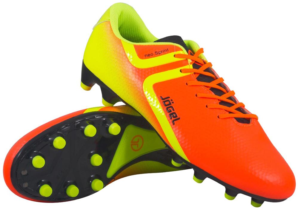 Бутсы футбольные мужские Jogel Rapido, цвет: оранжевый. JSH1001. Размер 45 бутсы футбольные мужские jogel rapido цвет синий jsh1001 размер 45