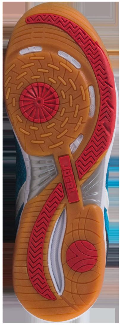 """Зальные бутсы """"Bravo"""" из линейки neo.Force предназначены для игры в зале и других ровных поверхностях, а также подходят для повседневной носки. Яркий, запоминающийся дизайн вобрал в себя все последние наработки команды дизайнеров Jogel.В конструкции ботинка используется специальный сетчатый материал для лучшей циркуляции воздуха и облегчения веса ботинка. Носовая часть ботинка имеет усиление для большей жесткости и износостойкости. Съемная анатомическая стелька изготовлена по технологии ExoGrip+ из нескользящего материала и специальной ребристой поверхностью в плюсневой части.Для уменьшения нагрузки на опорно-двигательный аппарат в процессе бега в подошву данной модели встроен специальный амортизирующий материал Phylon (филон). Совместно с формованной стелькой из вспененного материала ЭВА это позволяет минимизировать опасные последствия игры на твердых покрытиях и увеличить комфорт.Подошва обуви выполнена из качественной резины по технологии Non-marking, что обеспечивает безупречное сцепление с гладкими полированными поверхностями и не оставляет следов на паркете."""