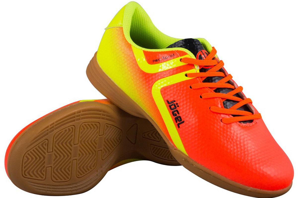 Бутсы для футзала мужские Jogel Rapido, цвет: оранжевый. JSH4001. Размер 45 бутсы футбольные мужские jogel rapido цвет синий jsh1001 размер 45