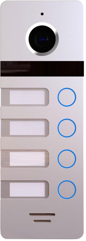 Falcon Eye FE-324, Silver вызывная панельFE-324 silverМногоабонентская вызывная видеопанельFE-324 выполнена в современном стиле и рассчитана на 4 абонентов, имеет встроенный видеомодуль высокого разрешения 800 ТВЛ с широким углом обзора 110°, ИК-подсветку для обеспечения видимости в темное время суток, а также предусмотрена подсветка кнопок и адресных шильдов (при работе с FE-70 CAPELLA, FE-70CH ORION, FE-70CH ORION DVR, FE-PLUS). В панели есть как, НО, так и НЗ контакты реле, что позволит подключить электромагнитный замок без дополнительного контроллера. Панель может работать при температурах от -30° до +60° и имеет класс защиты IP66.