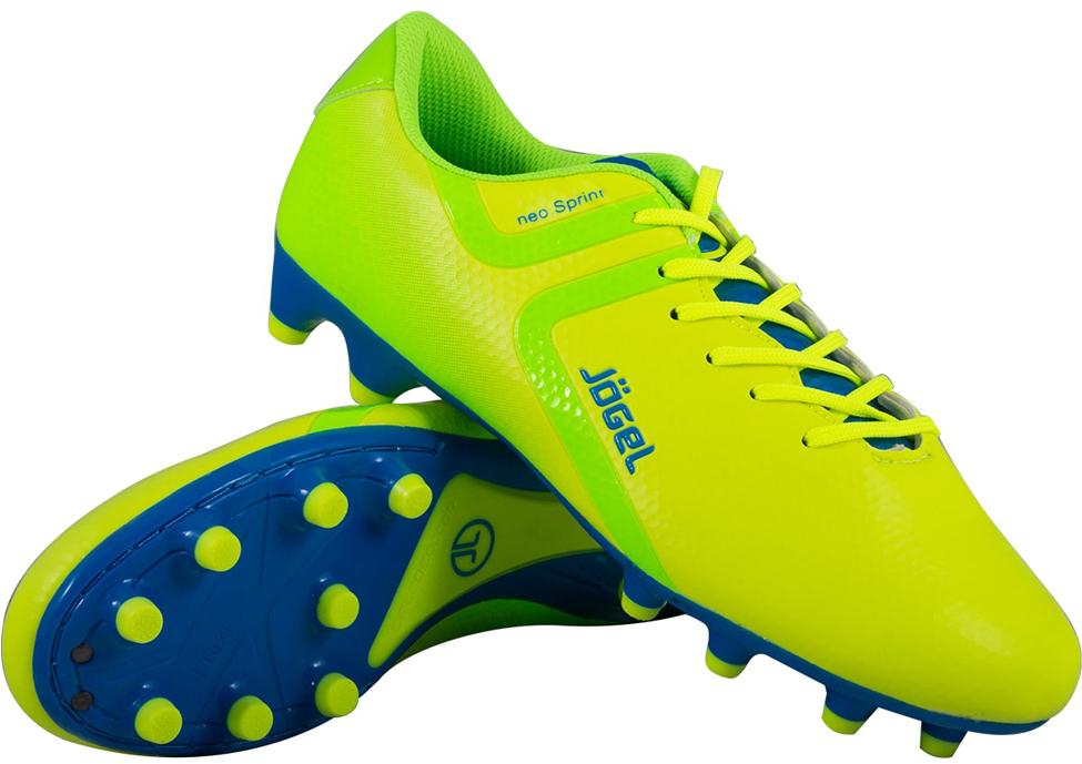 Бутсы футбольные детские Jogel Rapido, цвет: лимонный. JSH1001-Y. Размер 39 бутсы футбольные мужские jogel rapido цвет синий jsh1001 размер 45