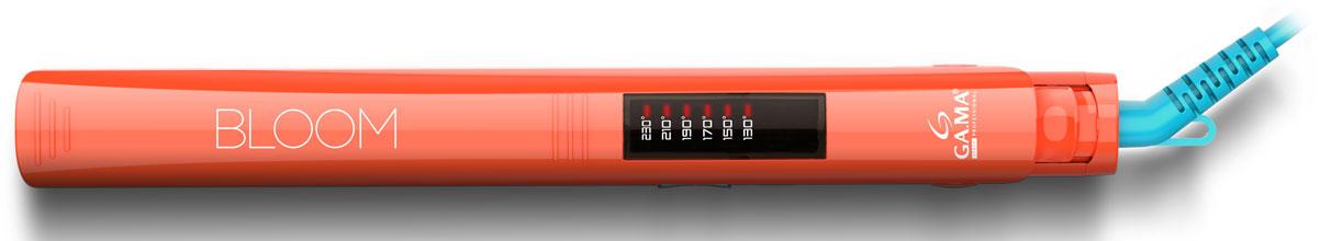 GA.MA Elegance Led Bloom OE, Orange выпрямитель для волосGI0205Выпрямители для волос линейки BLOOM – ELEGANCE LED выпускаются в трех ярких цветах: фиолетовый, розовый и оранжевый. Эти удобные в обращении выпрямители для волос имеют ультралегкую и ультратонкую конструкцию. Они снабжены длинными плавающими нагревательными пластинами (120 х 25 мм), которые идеально адаптируются к вашим волосам, чтобы распрямлять многочисленные локоны. Шесть настроек температуры позволяют выбрать оптимальный уровень нагрева в зависимости от типа выпрямляемых волос. Автоматическое отключение питания через 60 минут работы обеспечивает полную безопасность, даже если вы забудете выключить прибор.