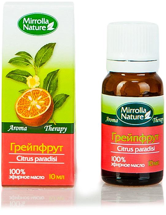 Мирролла Масло грейпфрута, 10 мл21153442Замедляет процесс образования морщинок, повышает упругость кожи, обладает отбеливающим эффектом; предупреждает появление растяжек кожи (стрий). Аромат нежной, холодной, горьковатой свежести.