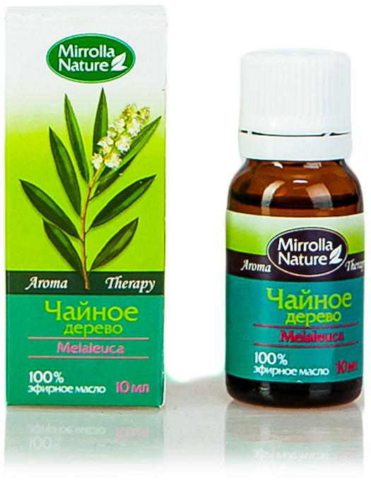 Мирролла Масло чайного дерева, 10 мл6235ускоряет заживление ран, порезов, ссадин; эффективное средство против герпеса на губах; помогает бороться с бородавками и папилломами; прекрасное средство против перхоти и грибка.