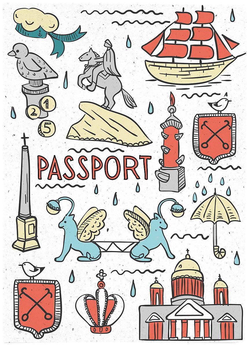 Обложка для паспорта Magic Home Санкт-Петербург. 77105