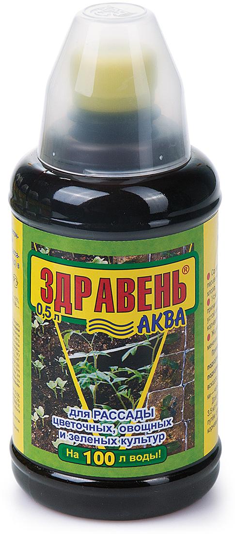 Удобрение Здравень Аква, для рассады цветочных, овощных и зеленых культур, 500 млbi-vh0054