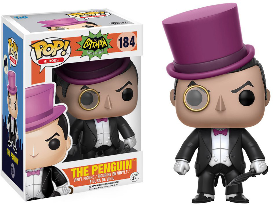 Фигурка Funko POP! Vinyl: DC: Batman 66: The Penguin 13629 фигурка funko pop vinyl dc batman animated btas poison ivy 11575