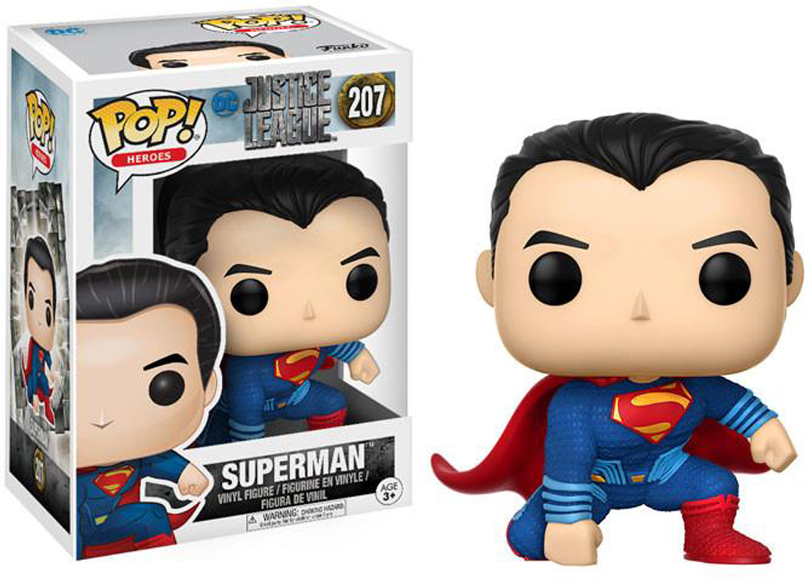 Фигурка Funko POP! Vinyl: DC: Justice League: Superman 13704 single ninja dc comics justice league superman batman the flash supergirl superwoman building blocks bricks toys for children