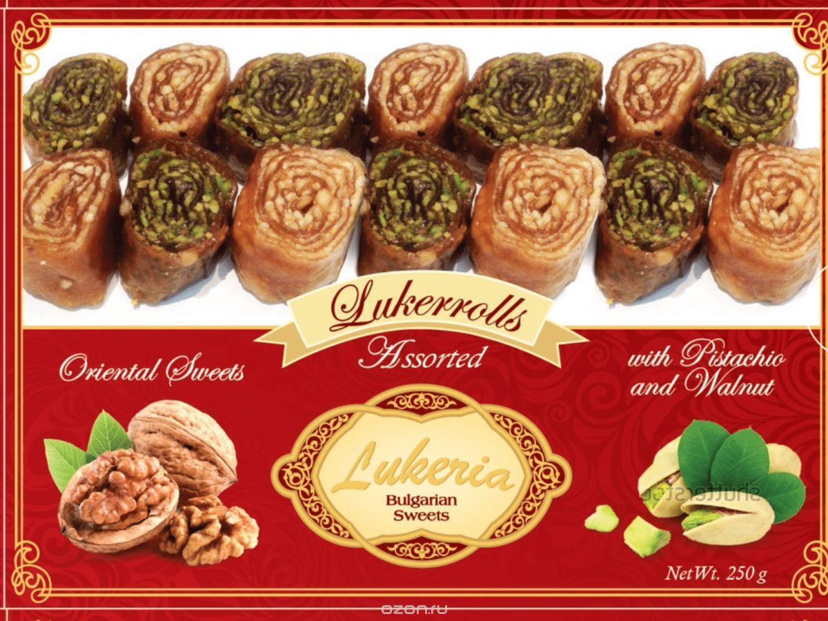Lukeria Ориенталские изделия Лукеррол с фисташками и грецким орехом, 250 г авторские бусы рахат лукум перламутр хрусталь