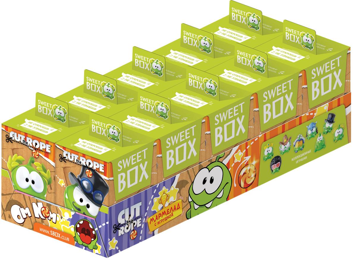 Конфитрейд Cut the rope мармелад с игрушкой в коробочке, 10 гУТ23572Картонная коробочка с игрушкой и мармеладом внутри.