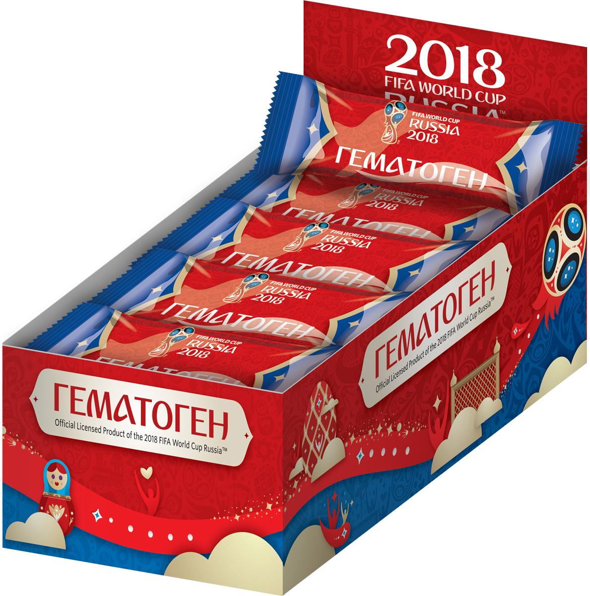 Конфитрейд Официальная продукция 2018 FIFA WORLD CUP гематоген детский, 25 гУТ22461Гематоген в метализированном герметичном пищевом флоу-паке.