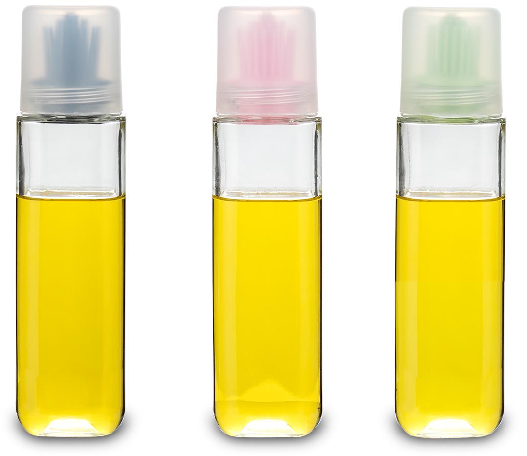 Емкость для масла SinoGlass, 270 мл78934000Емкость для масла SinoGlass изготовлена из прочного стекла. Специальная силиконовая кисточка позволяет равномерно распределять масло на противне или сковороде. Кисточка съемная, поэтому емкость также отлично подойдет для заправки салатов. Для гигиеничного хранения кисточка закрывается прозрачной крышкой. Такая емкость не только поможет хранить масло, но и отлично дополнит интерьер кухни. Высота (с учетом крышки): 20 см.