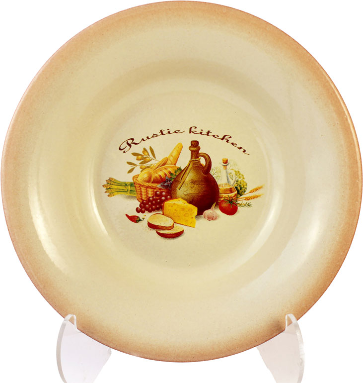 Тарелка Ломоносовская керамика, диаметр 22 см