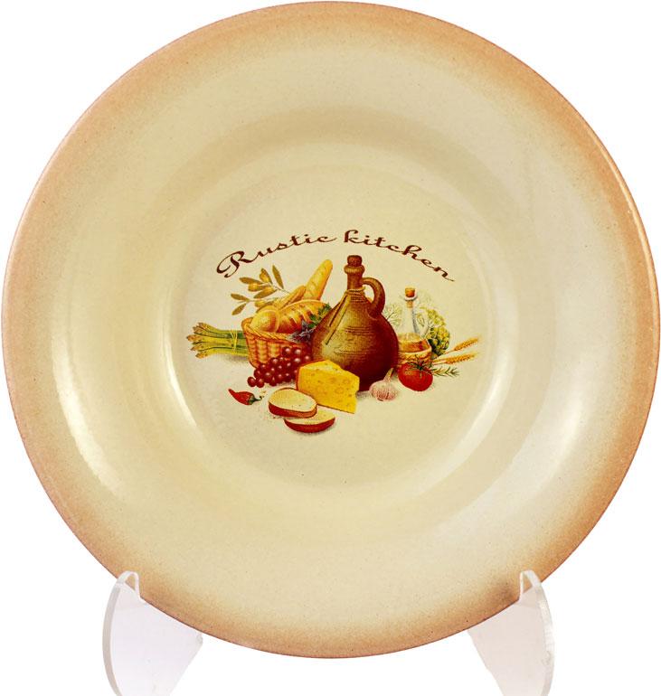 Тарелка Ломоносовская керамика, диаметр 22 см2РДТ-22Тарелка глубокая d22см,керамика