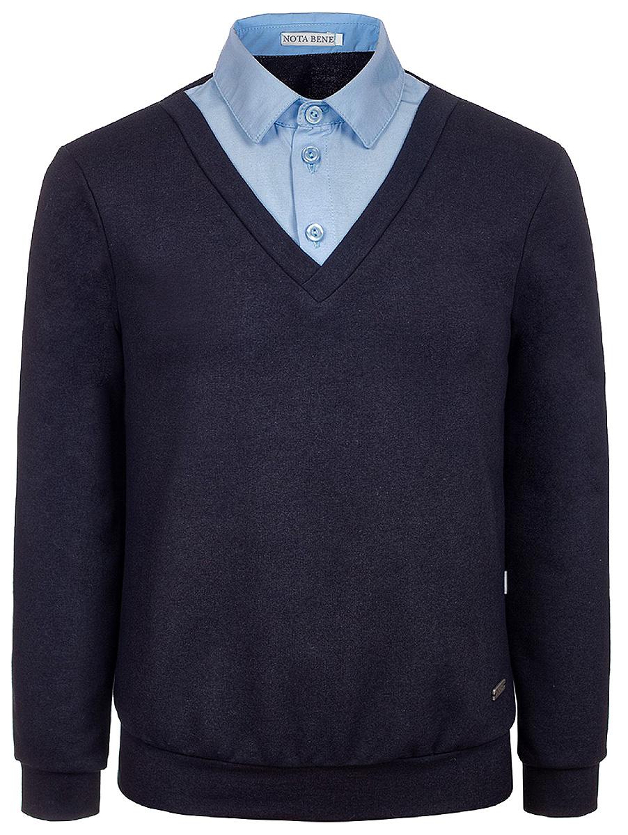 Джемпер для мальчиков Nota Bene, цвет: темно-синий. 514030129. Размер 158 платье tutto bene tutto bene tu009ewzwn18