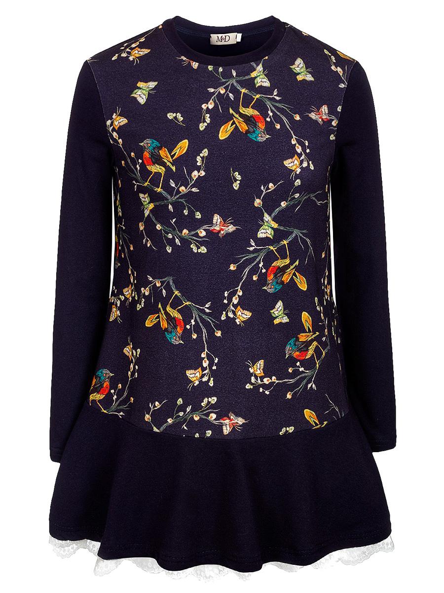 Платье для девочек M&D, цвет: лиловый. 18221090459. Размер 128 платье для девочки pelican gwdv4015 цвет персиковый 128