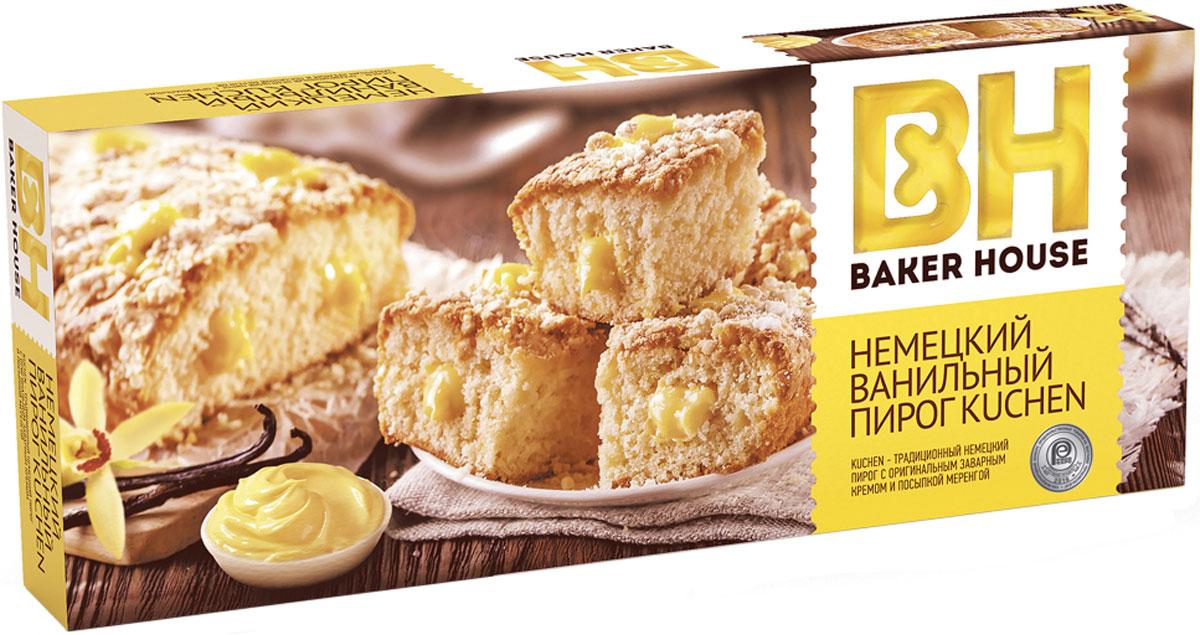 Baker House немецкий Kuchen пирог ваниль, 350 г топпинг ваниль 1 кг