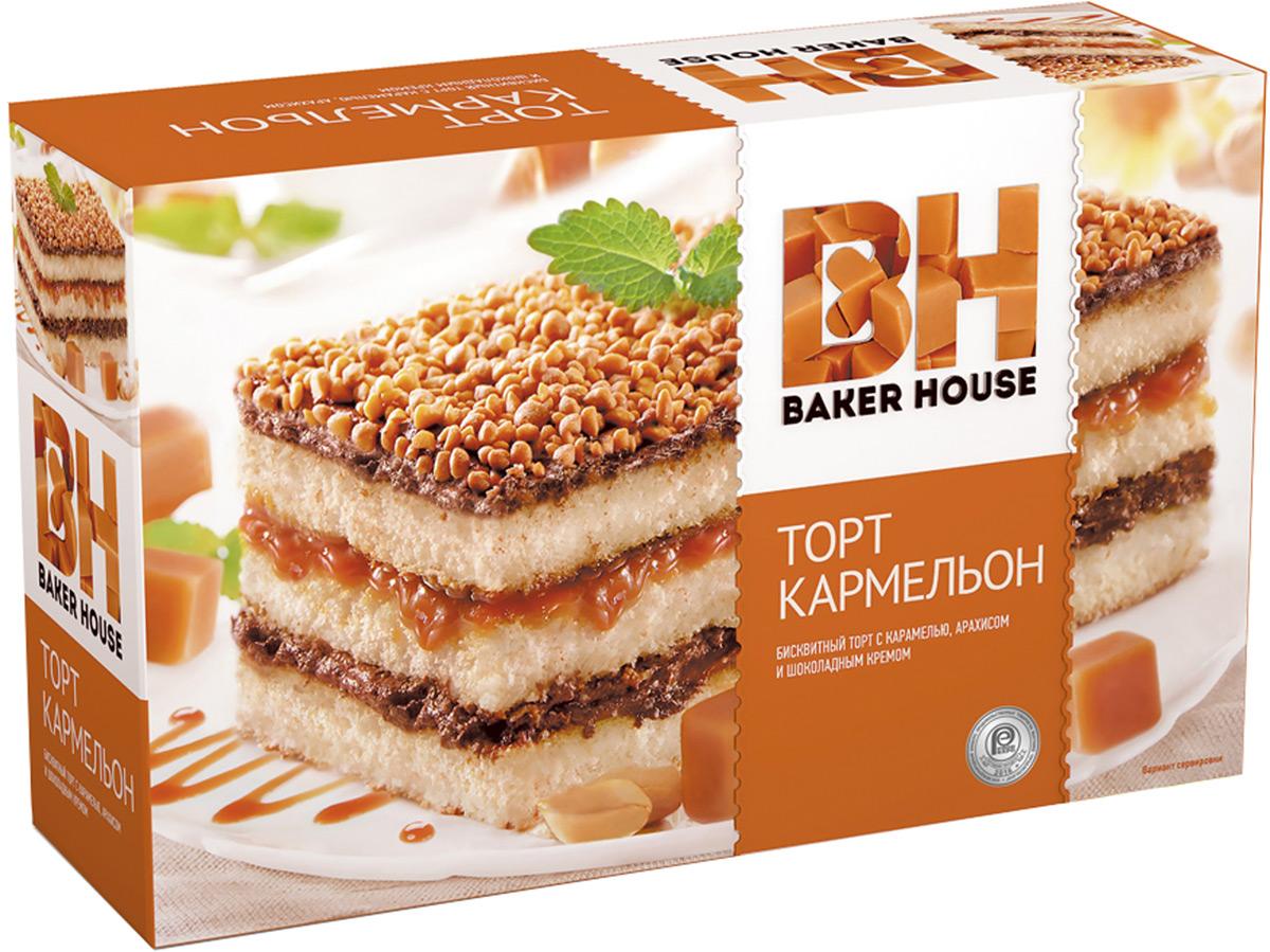 Baker House пирог карамель, 550 г4607001415824Пирог Карамель Baker House 550 гр