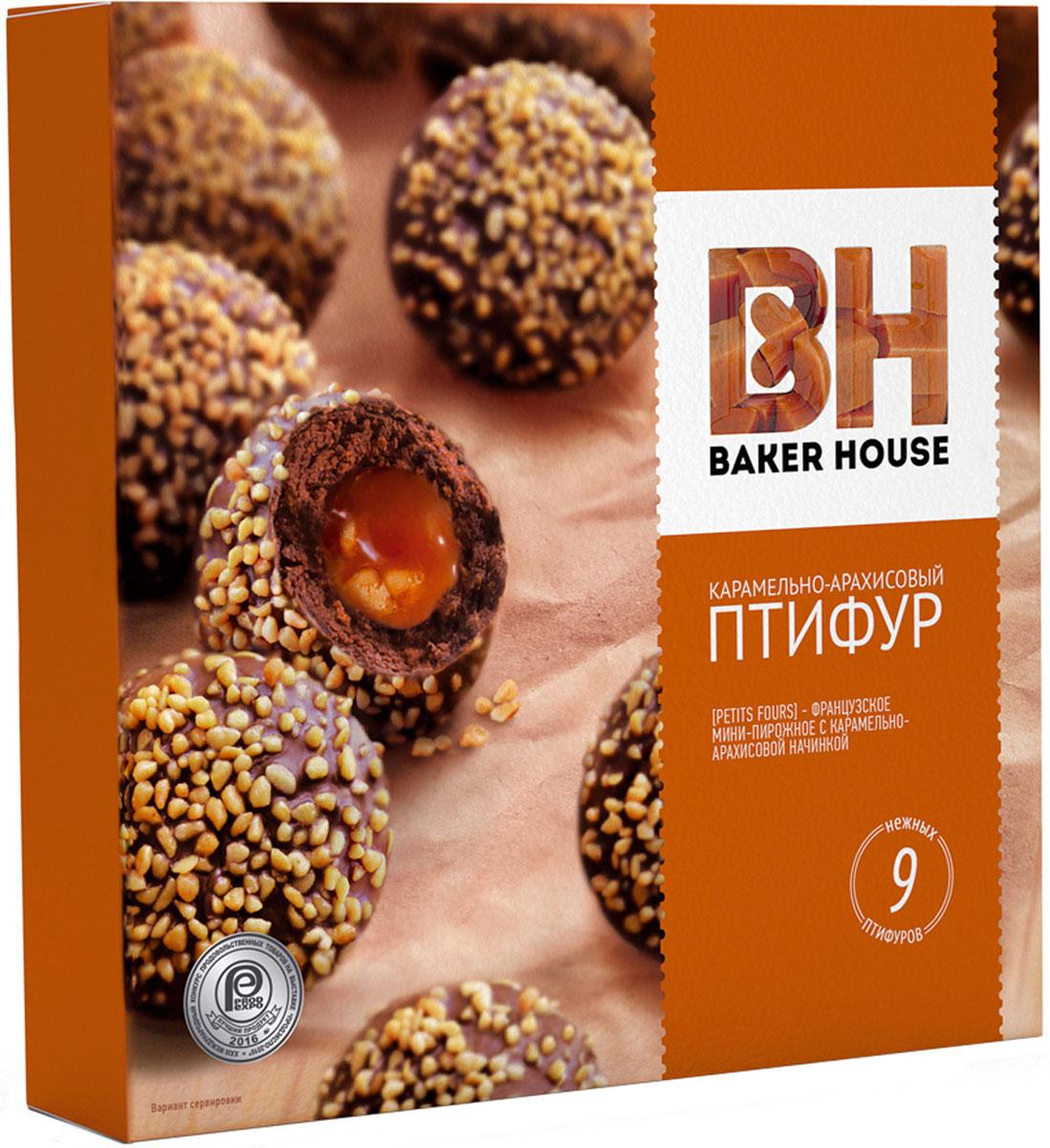 Baker House Птифур пирожные карамель с арахисом, 225 г щербет аль араби мягкий с арахисом 280г
