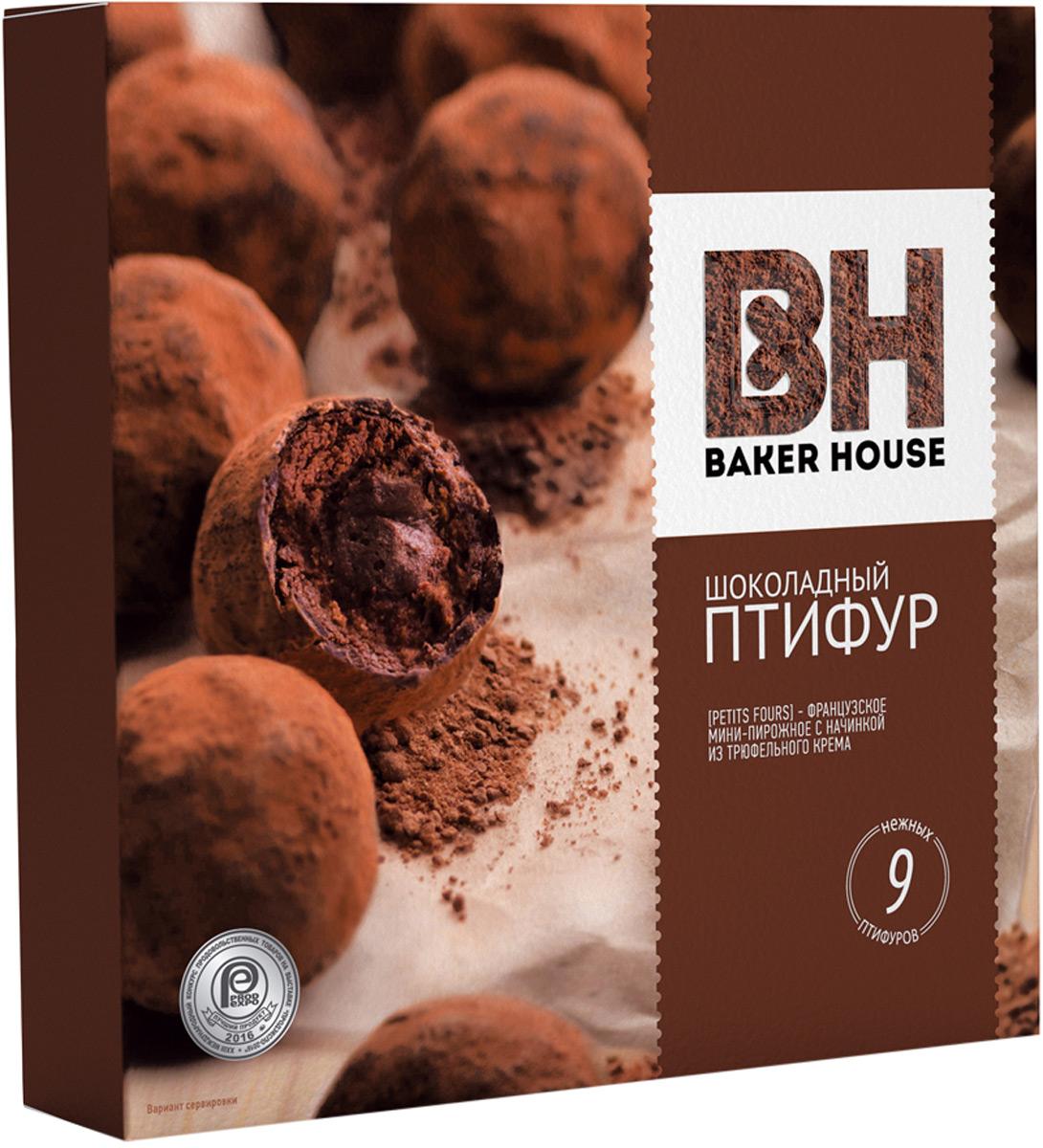 Baker House Птифур пирожные с трюфельным кремом, 225 г круассан 7days с кремом варёная сгущёнка 65г
