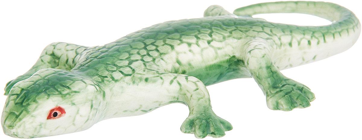 Фигурка декоративная Elan Gallery Ящерица, цвет: зеленый, 16,5 х 8 х 2 см