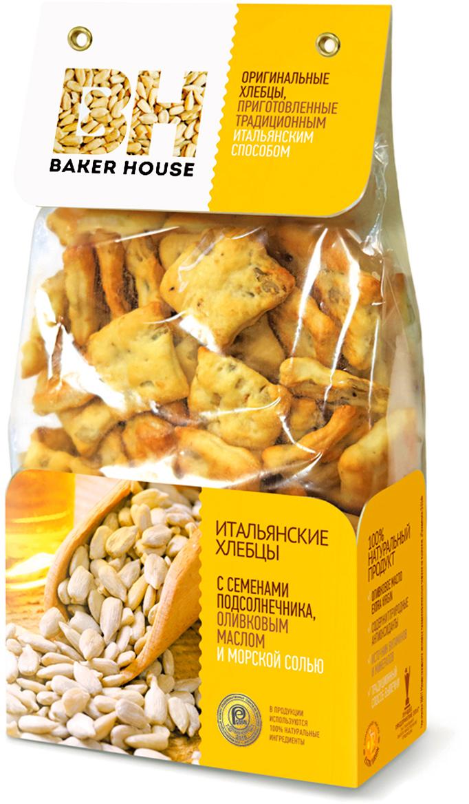 Baker House хлебцы итальянские с семенами подсолнечника, оливковым маслом и морской солью, 250 г