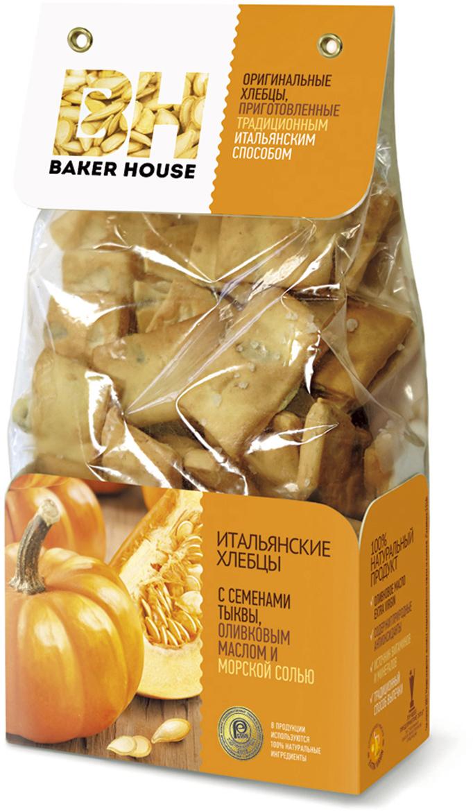 Baker House хлебцы итальянские с семенами тыквы, оливковым маслом и морской солью, 250 г