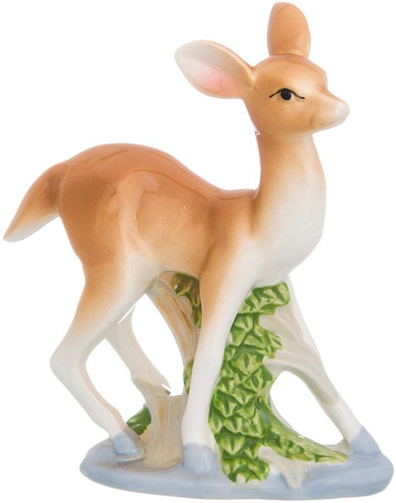 Фигурка декоративная Elan Gallery Бемби, цвет: светло-коричневый, 12,5 х 5 х 14 см менажница elan gallery белый шиповник на крутящейся подставке 5 секций