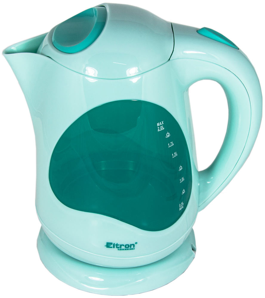 Eltron 6672, White Green электрический чайник - Чайники