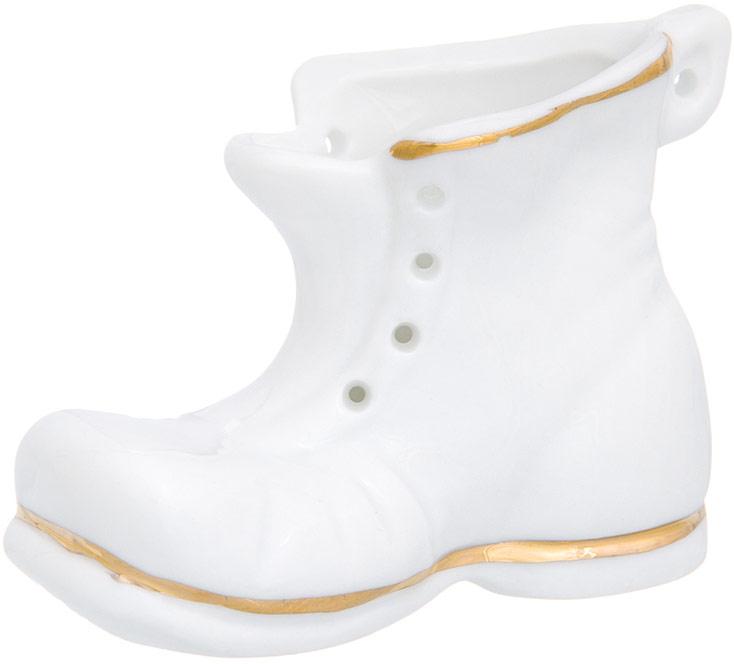 Фигурка декоративная Elan Gallery Башмачок, цвет: белый, золотистый, 7 х 3 х 5 см
