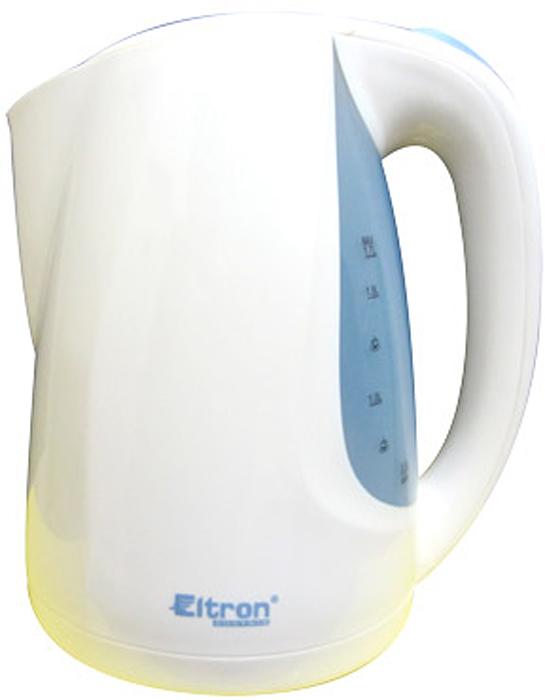 Eltron 6682, White электрический чайник6682ELЧайник электрический Мощность 1850-2000Вт. Объём 1,7 литра. Фильтр для воды. Световой индикатор работы. Автоматическое отключение при закипании. Защита от перегрева. Скрытый нагревательный элемент. Прозрачное окно уровня воды Поворот на 360 градусов.