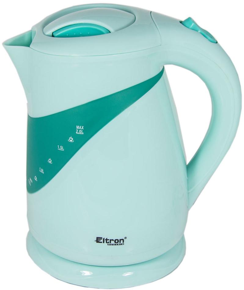Eltron 6671, White Green электрический чайник - Чайники