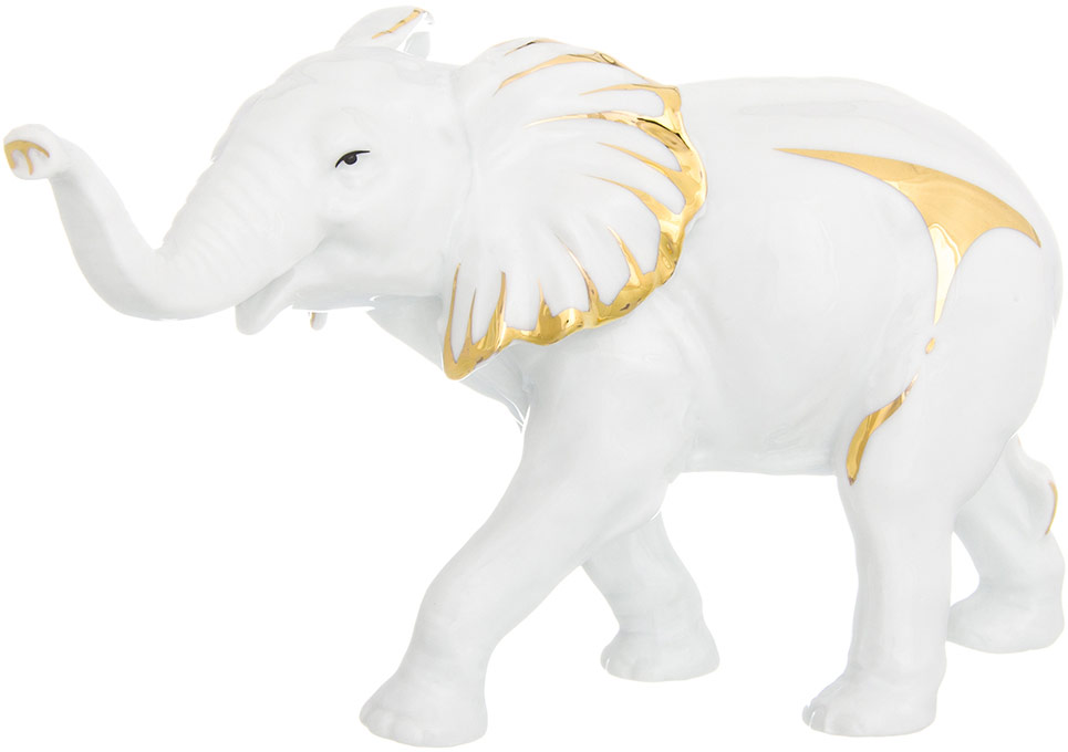 Фигурка декоративная Elan Gallery Слон, цвет: белый, 19 х 7 х 12 см elan gallery
