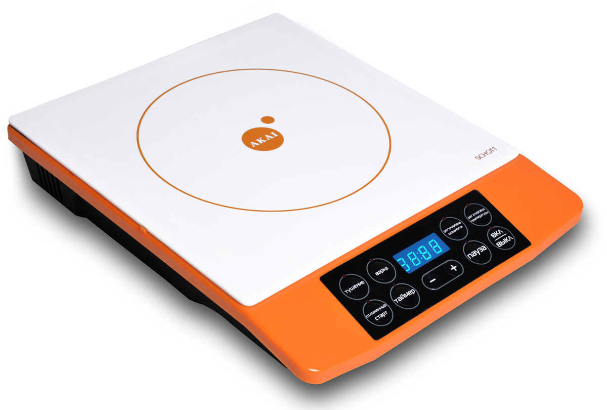 Akai TI-1173 O, Orange White плитка индукционная - Плиты