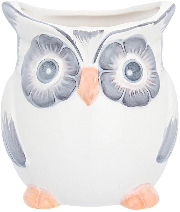 """Ваза Elan Gallery """"Сова"""" выполнена из фарфора. Оригинальный дизайн наполнит ваш дом праздничным настроением.   Декоративная ваза украсит ваш интерьер и будет прекрасным подарком для ваших близких!"""